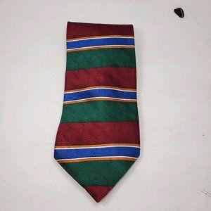 Oscar de la Renta   Red Green & Blue Stripes Tie